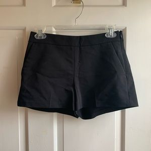 Express structured black shorts